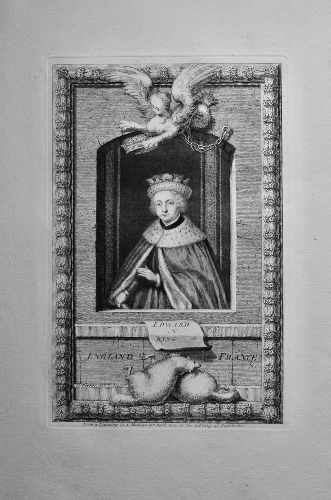 Edward V.  King of England & France.  1736.