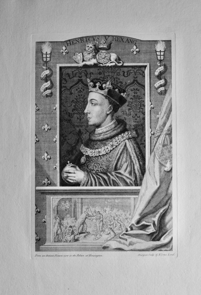 Henricvs  V.  Rex Ang.    (King Henry V.)  1736.