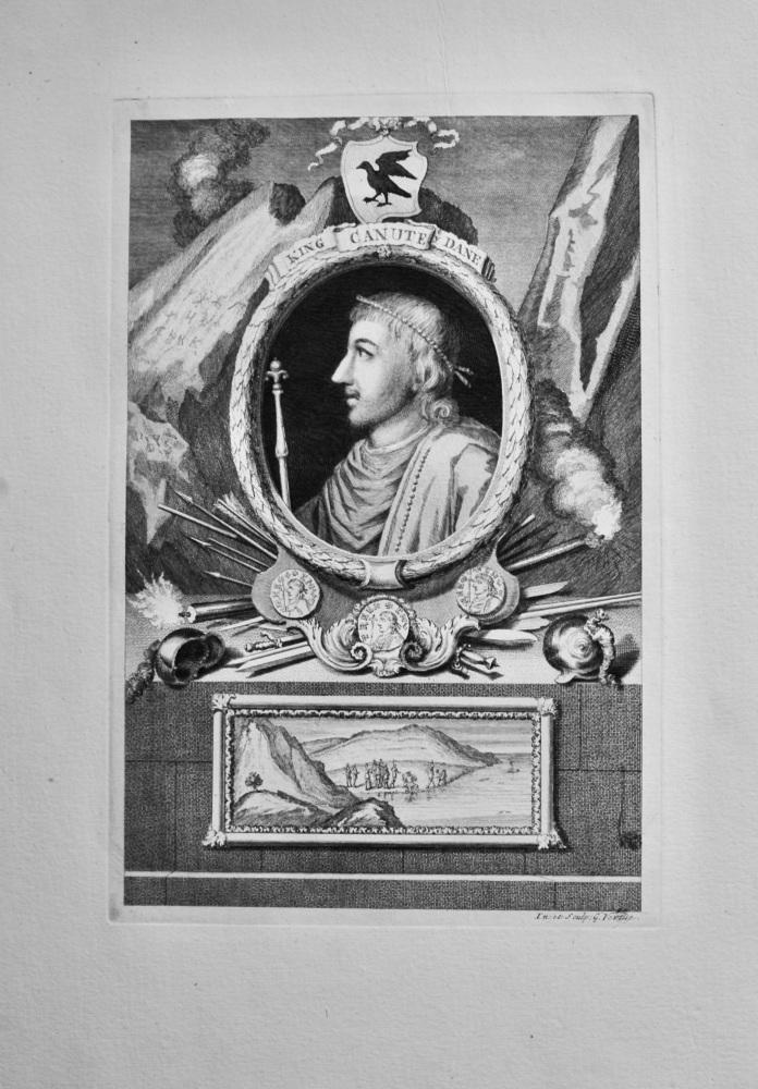 King Canute ye Dane.  1736.