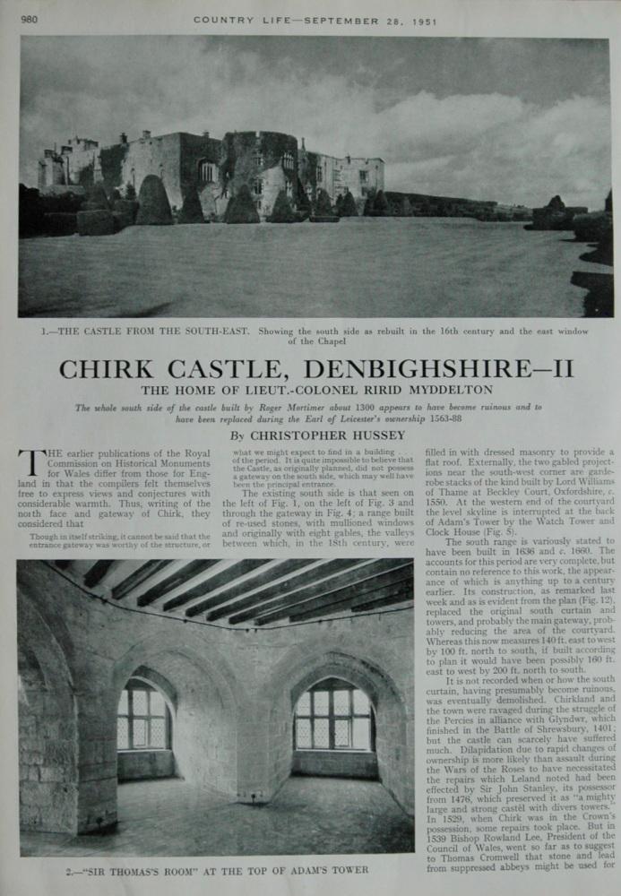 Chirk Castle, Denbighshire - III - 1951