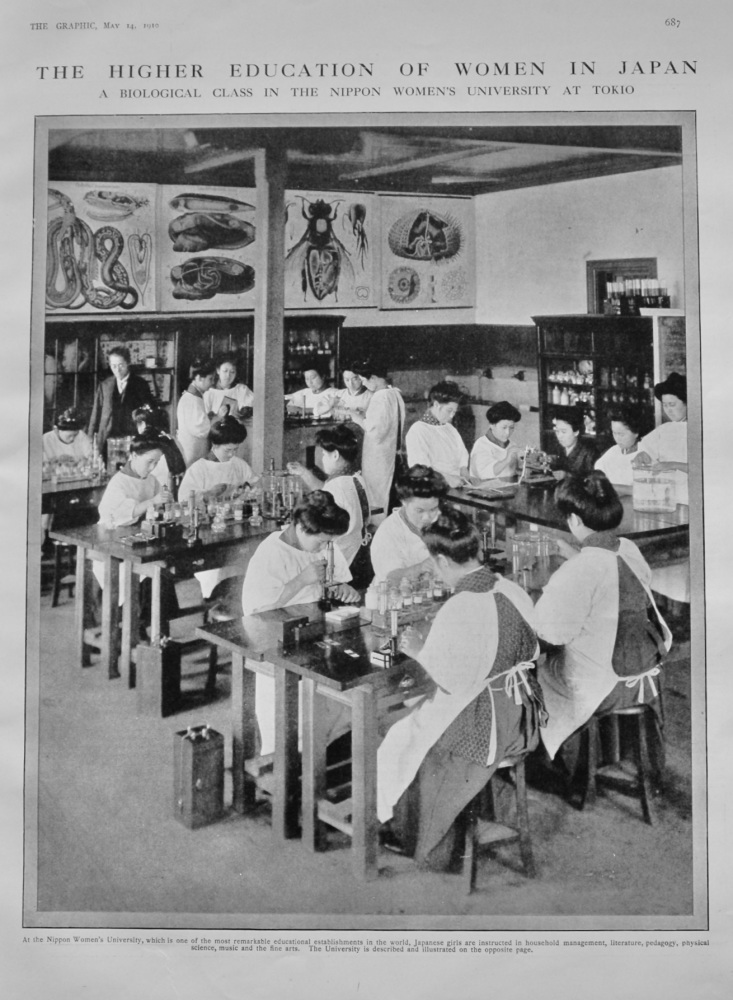 The Higher Education of Women in Japan : A Biological Class in the Nippon Women's University at Tokyo.  1910.