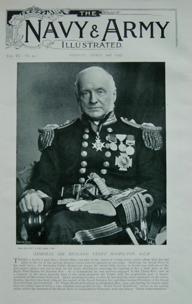 Admiral Sir Richard Vesey Hamilton - 1897