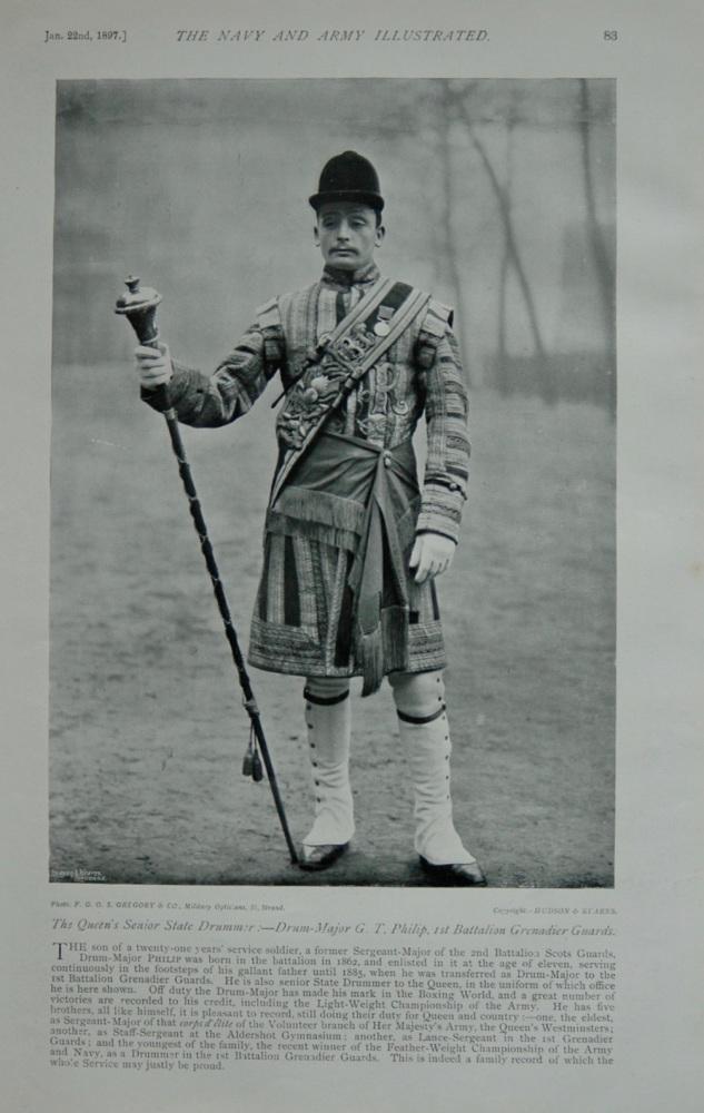 Drum Major G T Philip - 1897
