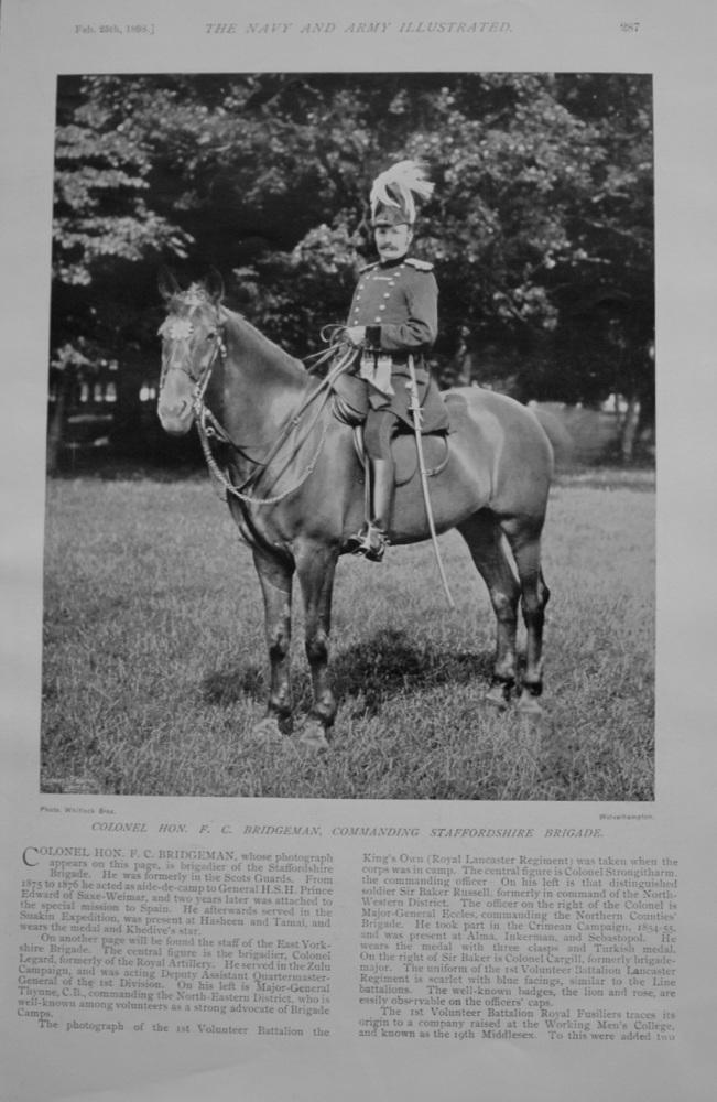 Colonel F C Bridgeman - 1898