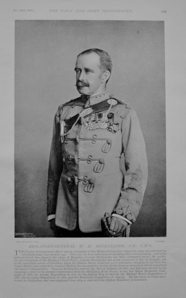 Brigadier-General Meiklejohn - 1897