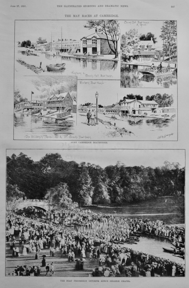 May Races at Cambridge.  1891.