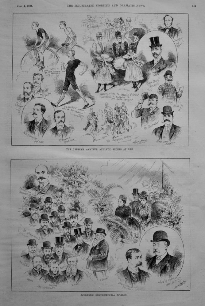 Gresham Amateur Athletic Sports at Lee.  1891.