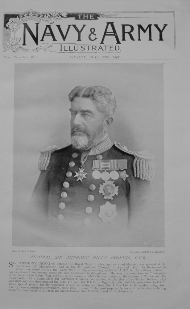 Admiral Sir Anthony Hoskins - 1897
