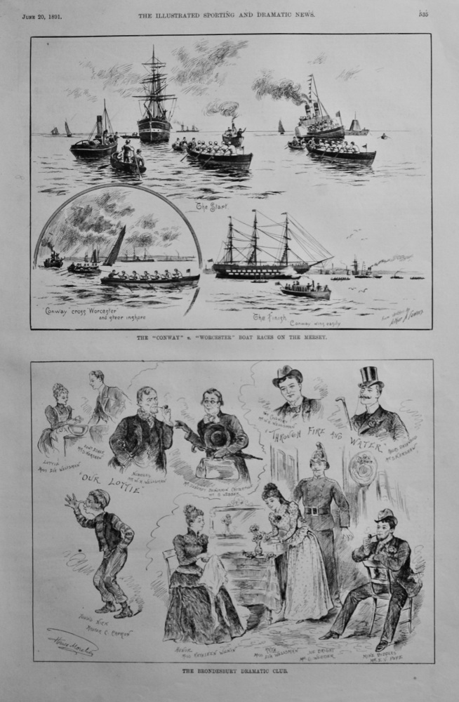 The Brondesbury Dramatic Club.  1891.