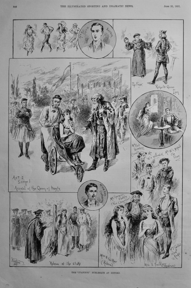 """The """"Ivanhoe"""" Burlesque at Oxford.  1891."""