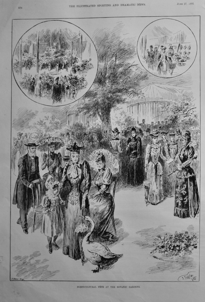 Horticultural Fete at the Botanic Gardens.  1891.