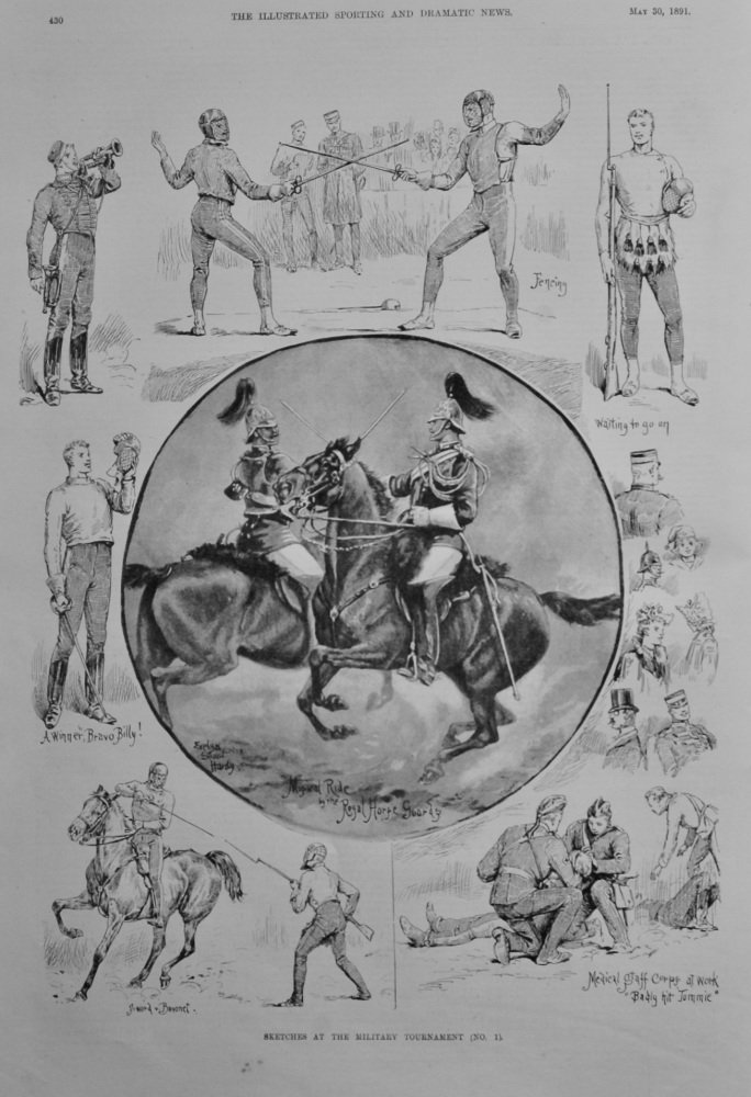 Sketches at the Military Tournament (No.1).  1891.
