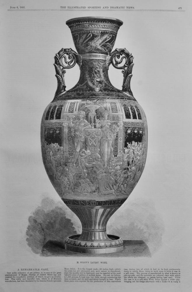 A Remarkable Vase.  M. Solon's Latest Work.  1891.