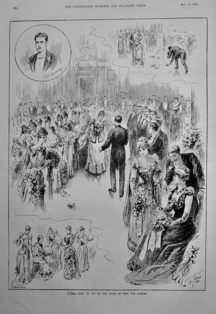 Floral Ball in Aid of the Home of Rest for Horses.  1891.