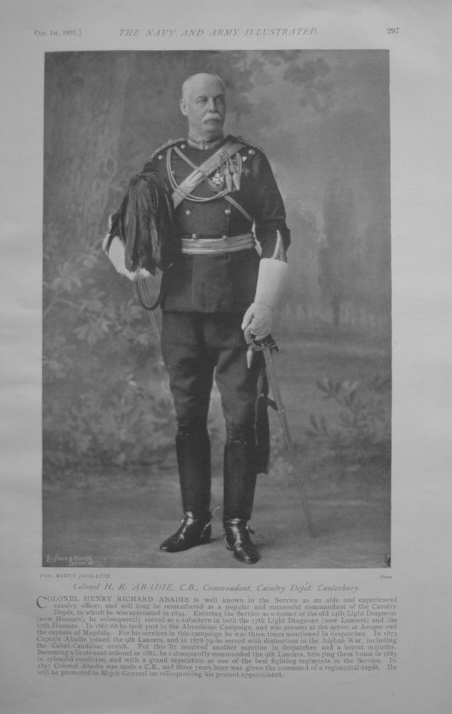 Colonel H R Abadie - 1897