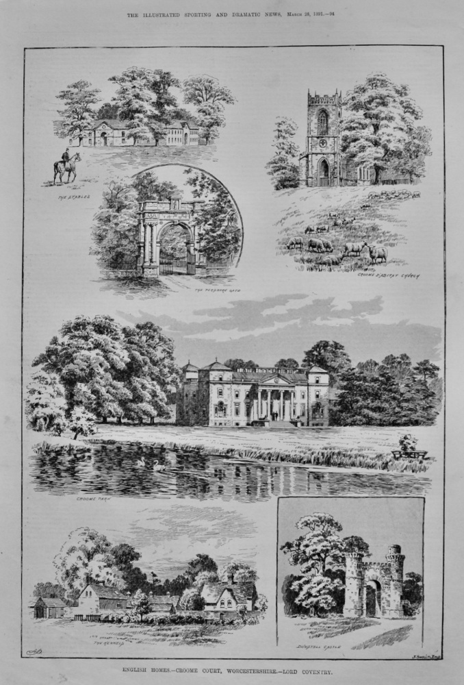 English Homes.- Croome Court, Worcestershire.- Lord Coventry.  1891.