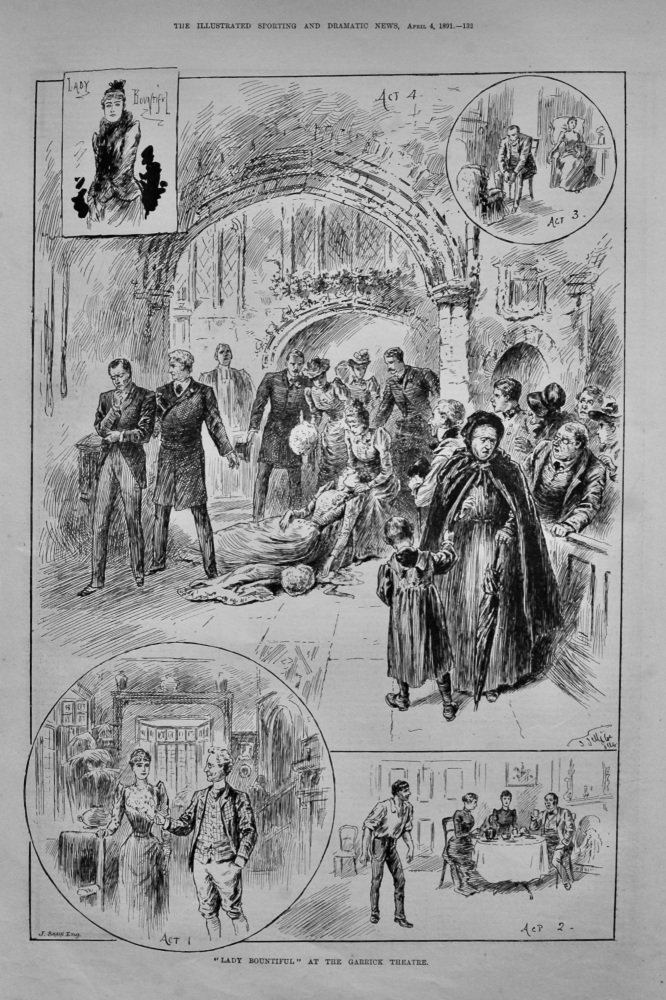 """Lady Bountiful"" at the Garrick Theatre.  1891."