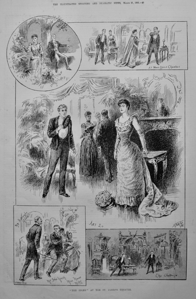 """The Idler"" at the St. James's Theatre.  1891."