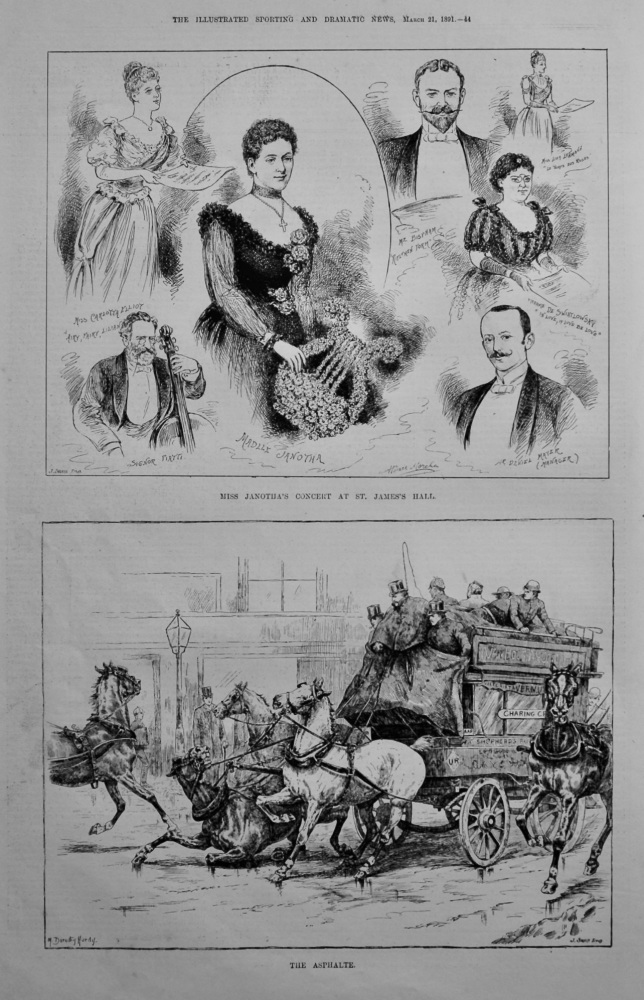 Miss Janotha's Concert at St. James's Hall.  1891.