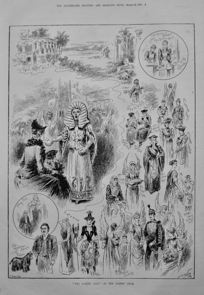 """""""The Coming Race"""" at the Albert Hall. 1891."""