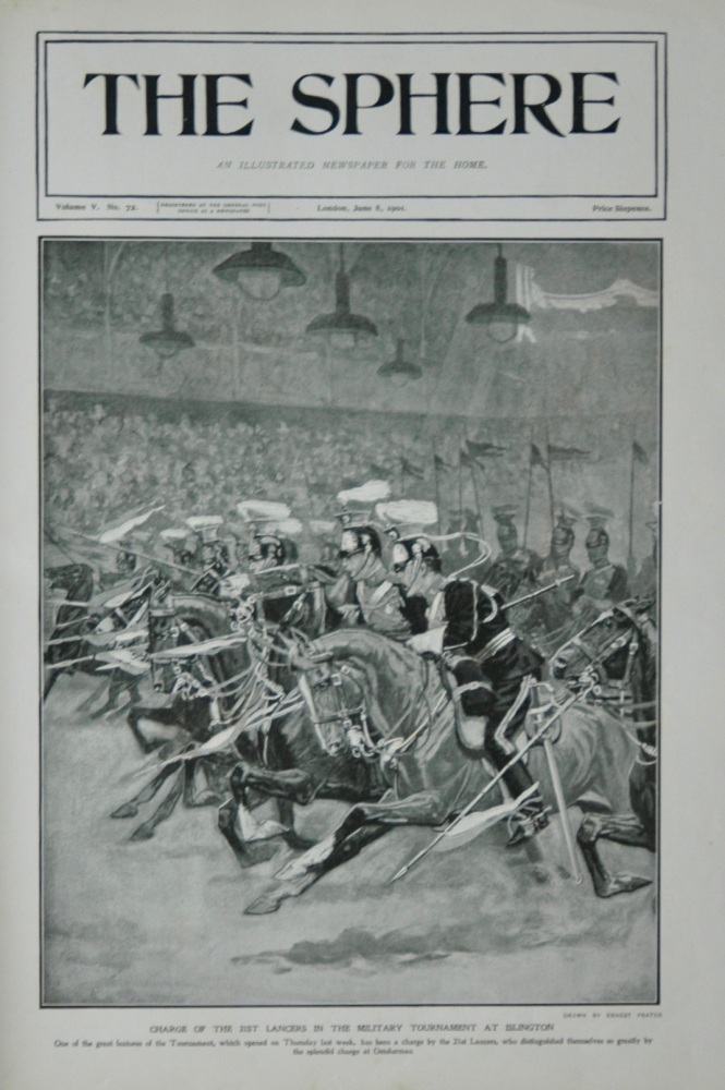 Charge of the 21st Lancers - Military Tournament - 1901