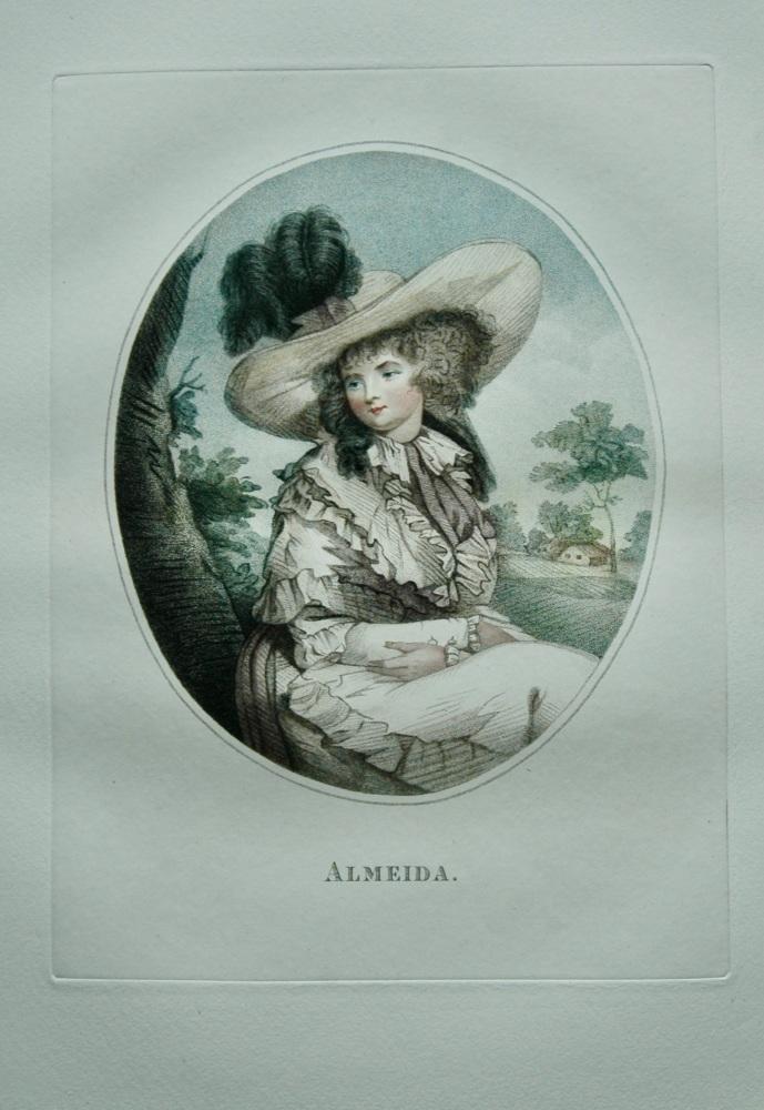 Almeida. (Colour Mezzotint).