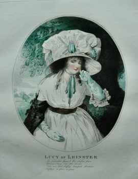 Lucy of Leinster.  (Colour Mezzotint).