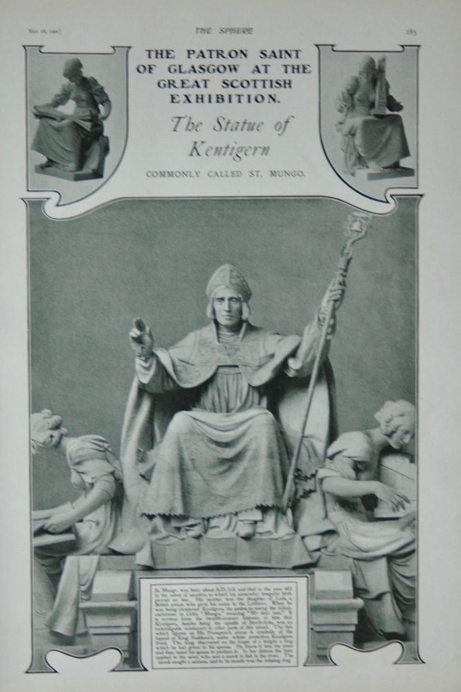 The Statue of Kentigern - 1901