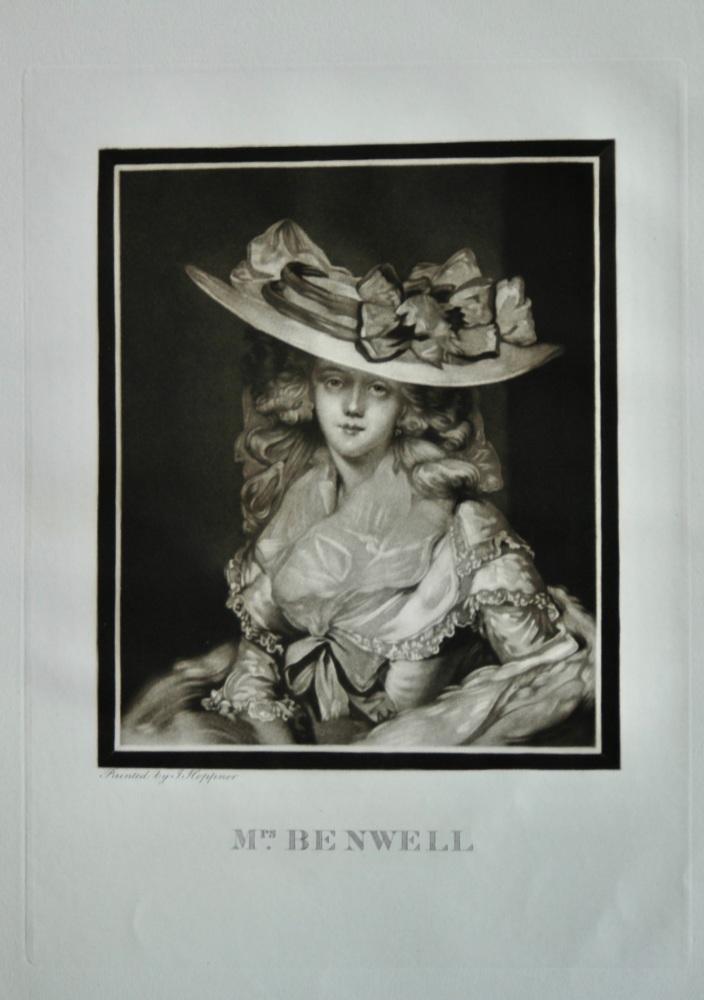 Mrs. Benwell.  (Mezzotint).