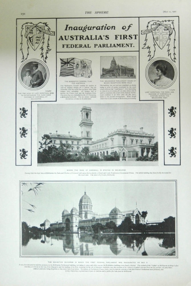 Inauguration of Australia's First Federal Parliament - 1901