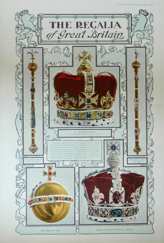 The Sphere, April 27th, 1901. (Supplement) : The Regalia of Great Britain - 1901
