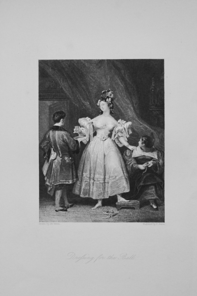 Dressing for the Ball.  1836.