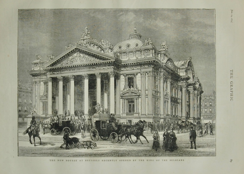 The New Bourse in Brussels - 1874