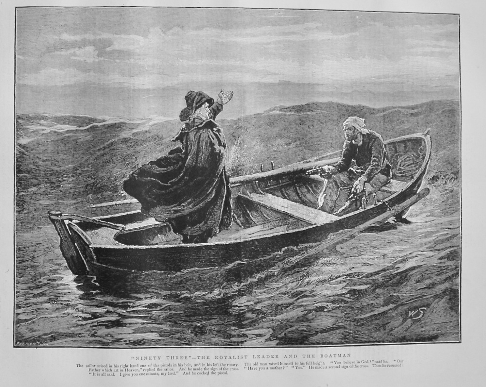 """Ninety Three"" - The Royalist Leader and the Boatman - 1874"