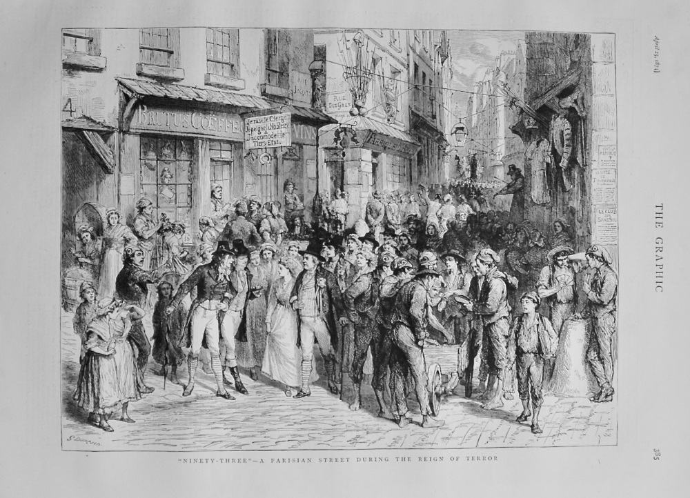 """Ninety Three"" - A Parisian Street during the Reign of Terror - 1874"