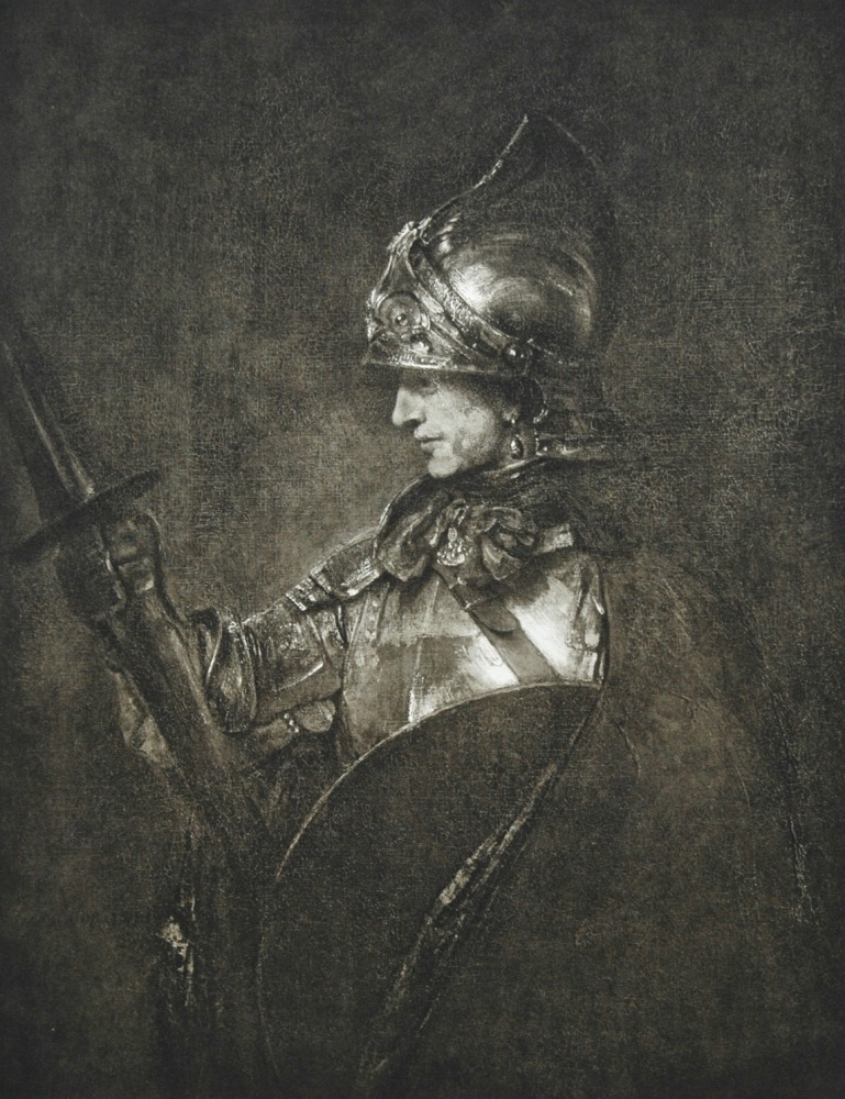 """A Man in Armour"" - Photogravure - 1903"