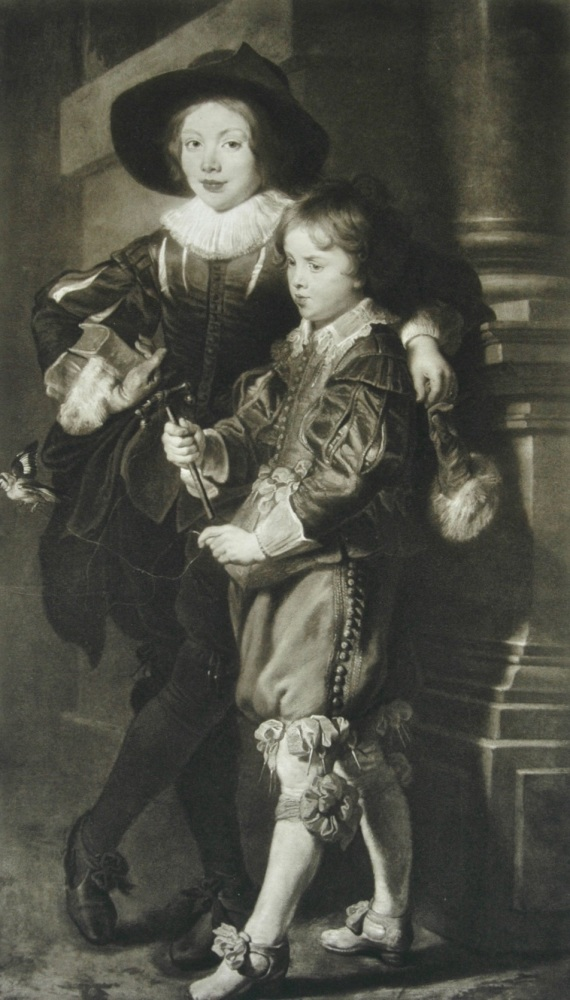 """Albert and Nicholas Rubens"" - Photogravure - 1903"