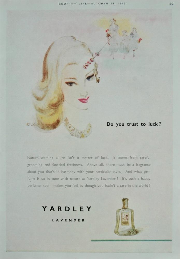 """Yardley"" advert - 1949"