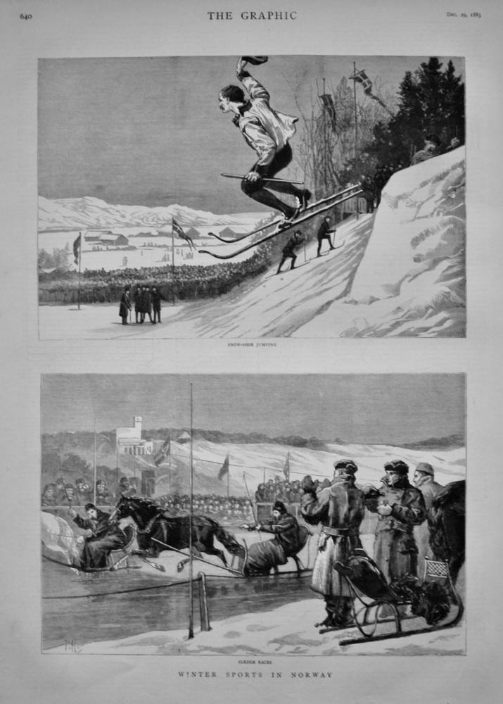 Winter Sports in Norway.  1883.