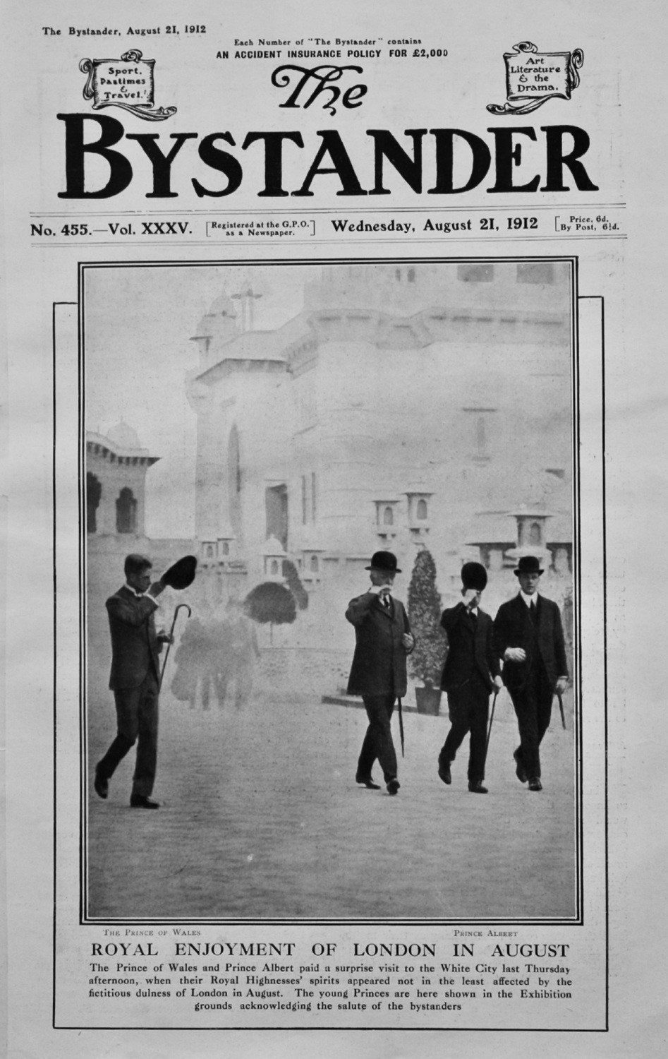 The Bystander August 21st 1912.