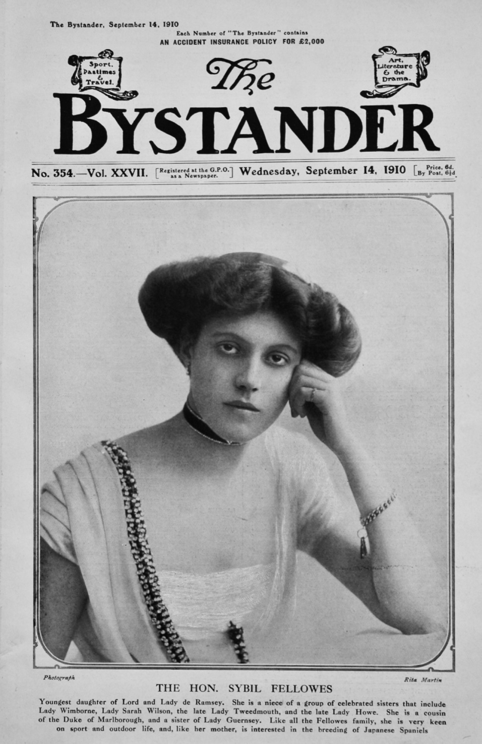 The Bystander Sept 14th 1910.