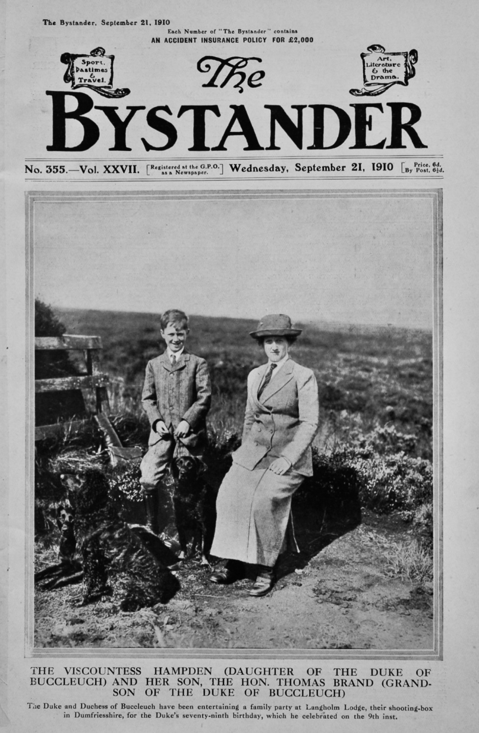 The Bystander Sept 21st 1910.