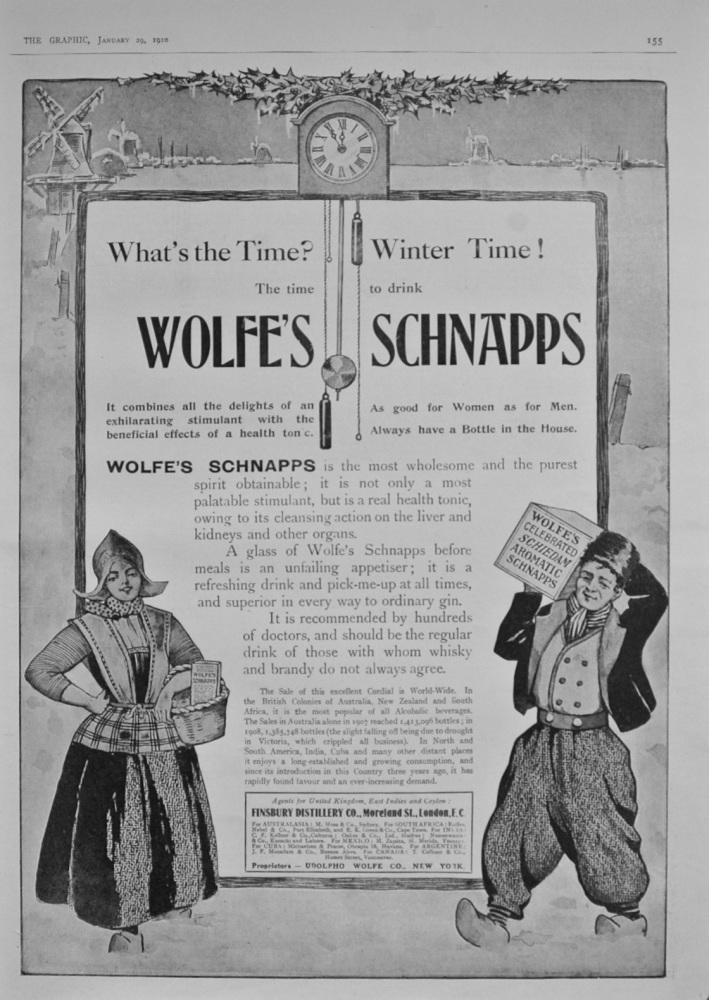 Wolfe's Schnapps Advert
