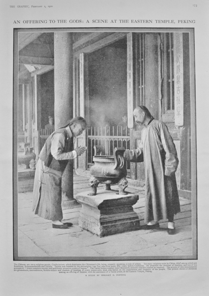A Scene at the Eastern Temple, Peking - 1910