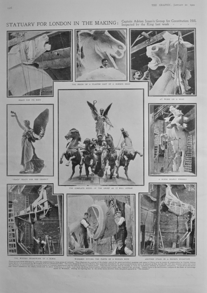 Statuary for London in the Making - 1910