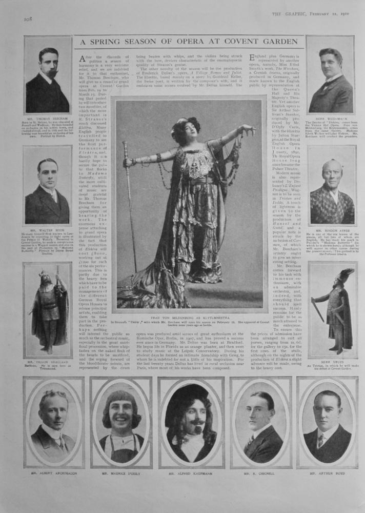 A Spring Season of Opera at Covent Garden - 1910