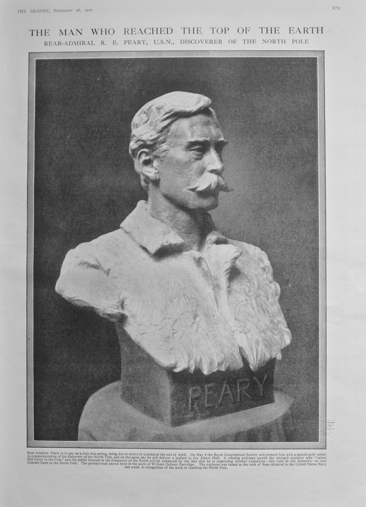 Rear-Admiral R E Peary - 1910