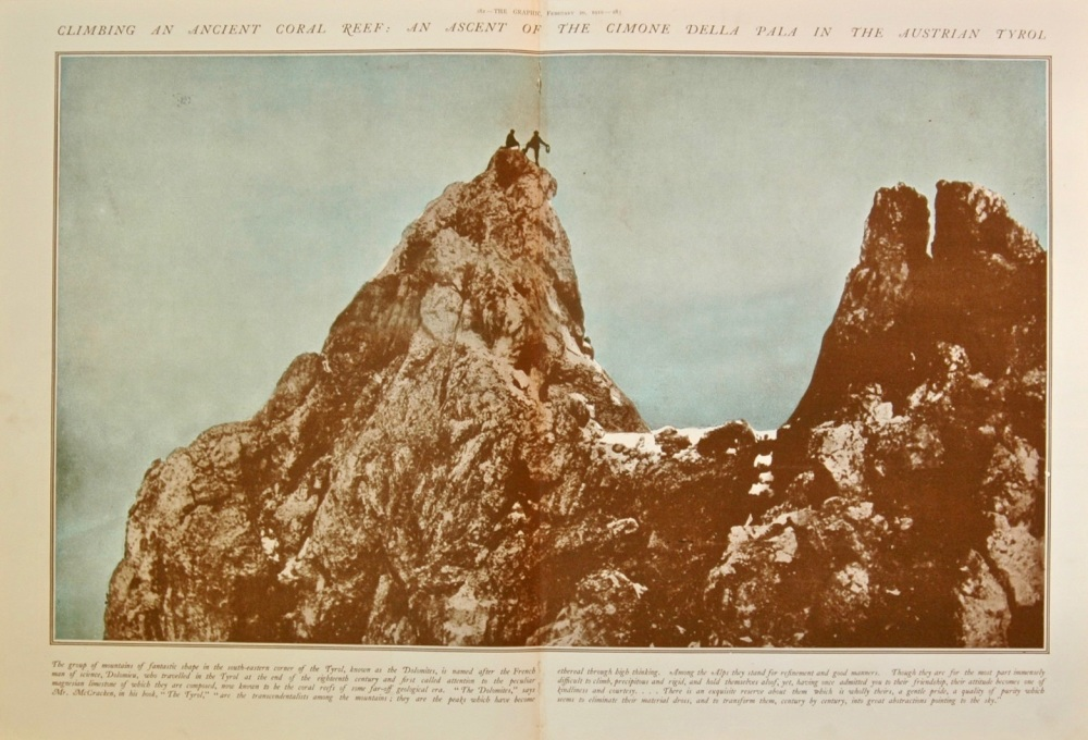 Climbing an Ancient Coral Reef - 1910