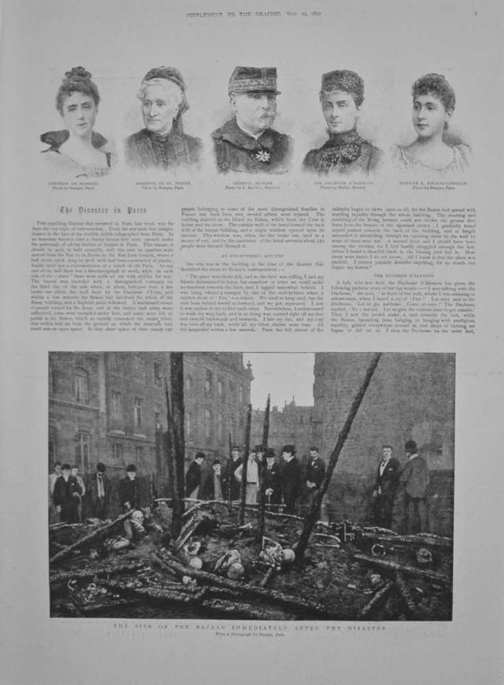The Disaster in Paris - 1897.  (Fire).