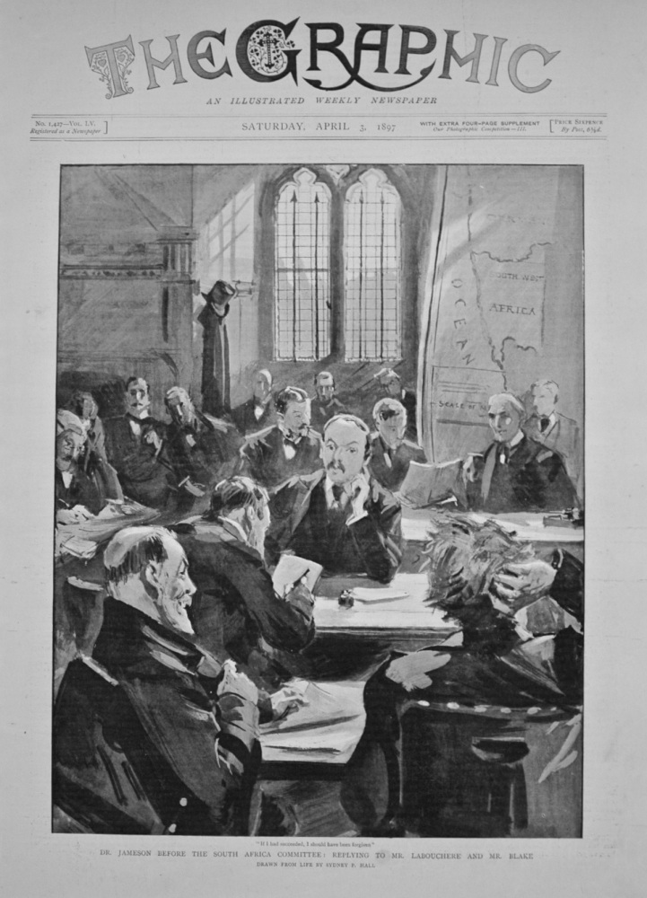 Dr Jameson before the South Africa Committee - 1897